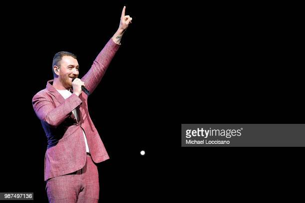 Sam Smith performs at Madison Square Garden on June 29 2018 in New York City