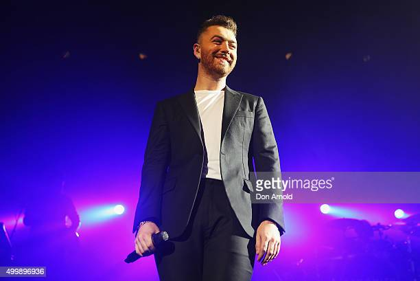 Sam Smith performs at Qantas Credit Union Arena on December 4 2015 in Sydney Australia