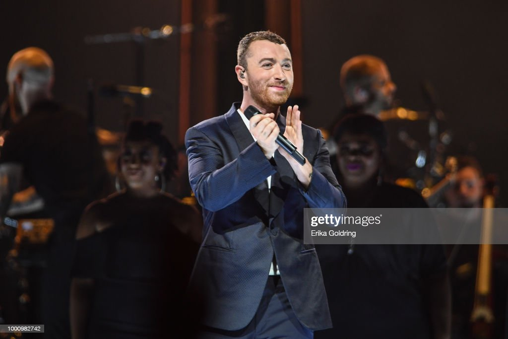 Sam Smith performs at Smoothie King Center on July 17, 2018 in New Orleans, Louisiana.