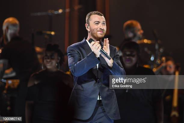 Sam Smith performs at Smoothie King Center on July 17 2018 in New Orleans Louisiana