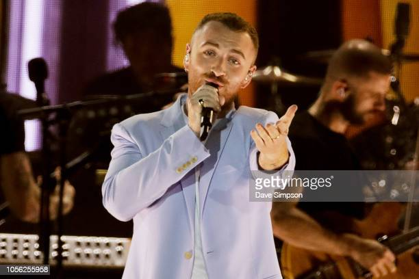Sam Smith performs at Spark Arena on November 2 2018 in Auckland New Zealand