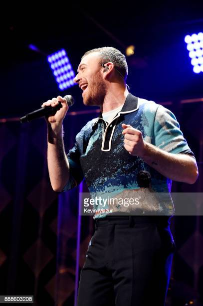 Sam Smith performs at Z100's Jingle Ball 2017 on December 8 2017 in New York City