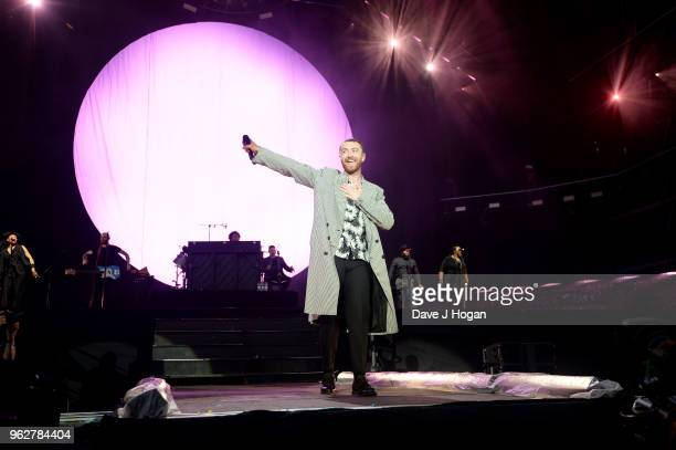 Sam Smith performs during day 1 of BBC Radio 1's Biggest Weekend 2018 held at Singleton Park on May 26 2018 in Swansea Wales
