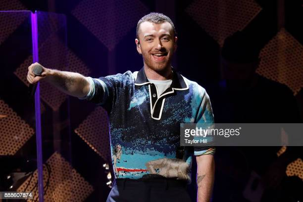 Sam Smith performs during the 2017 Z100 Jingle Ball at Madison Square Garden on December 8 2017 in New York City