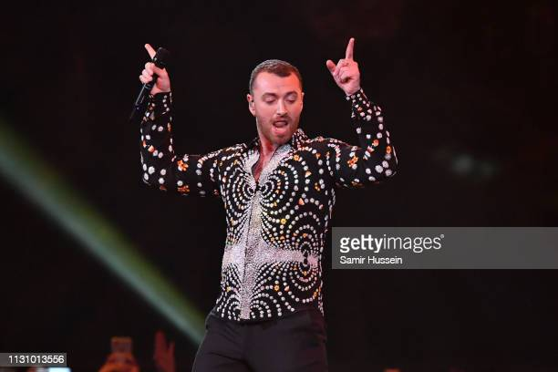 Sam Smith performs during The BRIT Awards 2019 held at The O2 Arena on February 20 2019 in London England