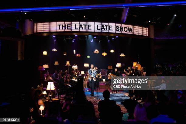 Sam Smith performs during 'The Late Late Show with James Corden' Monday January 29 2018 On The CBS Television Network