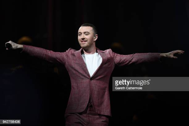 Sam Smith performs live on stage at The O2 Arena on April 6 2018 in London England