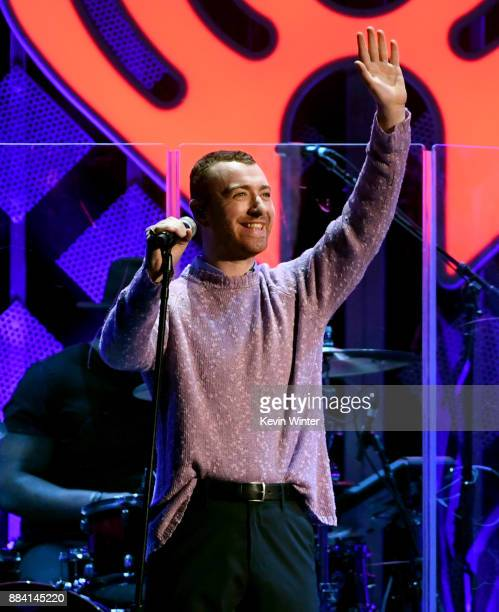 Sam Smith performs onstage during 1027 KIIS FM's Jingle Ball 2017 presented by Capital One at The Forum on December 1 2017 in Inglewood California