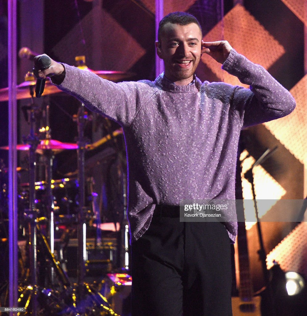 Sam Smith performs onstage during 102.7 KIIS FM's Jingle Ball 2017 presented by Capital One at The Forum on December 1, 2017 in Inglewood, California.