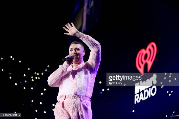 Sam Smith performs onstage during 102.7 KIIS FM's Jingle Ball 2019 Presented by Capital One at the Forum on December 6, 2019 in Los Angeles,...