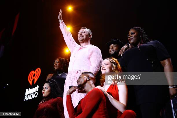 Sam Smith performs onstage during 1027 KIIS FM's Jingle Ball 2019 Presented by Capital One at the Forum on December 6 2019 in Los Angeles California