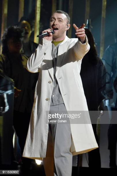 Sam Smith performs onstage during the 60th Annual GRAMMY Awards at Madison Square Garden on January 28 2018 in New York City