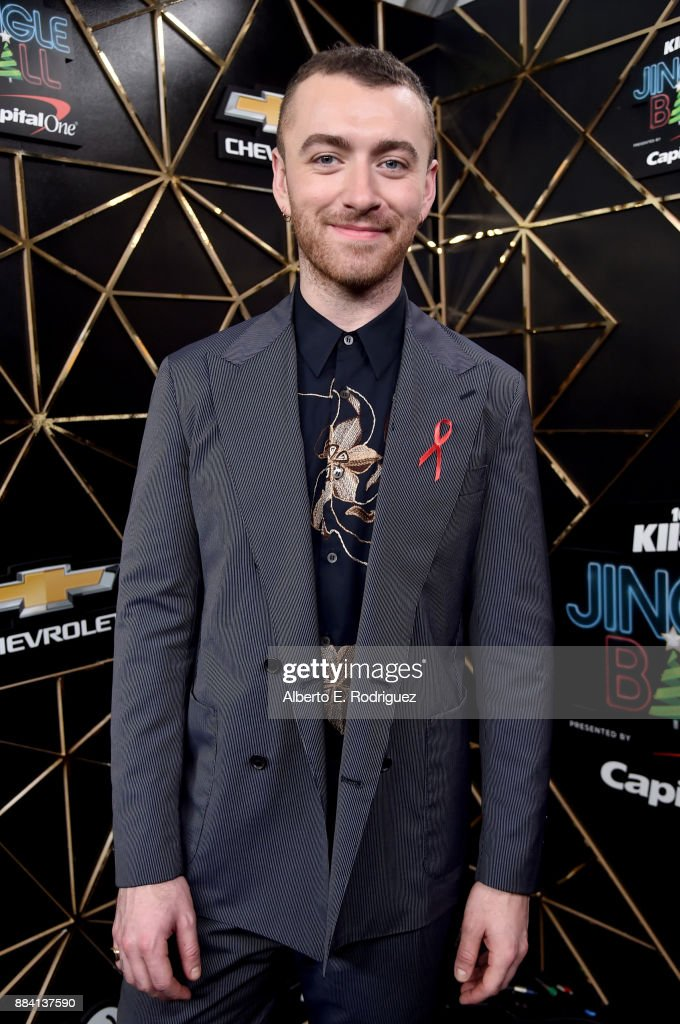 Sam Smith poses in the press room during 102.7 KIIS FM's Jingle Ball 2017 presented by Capital One at The Forum on December 1, 2017 in Inglewood, California.