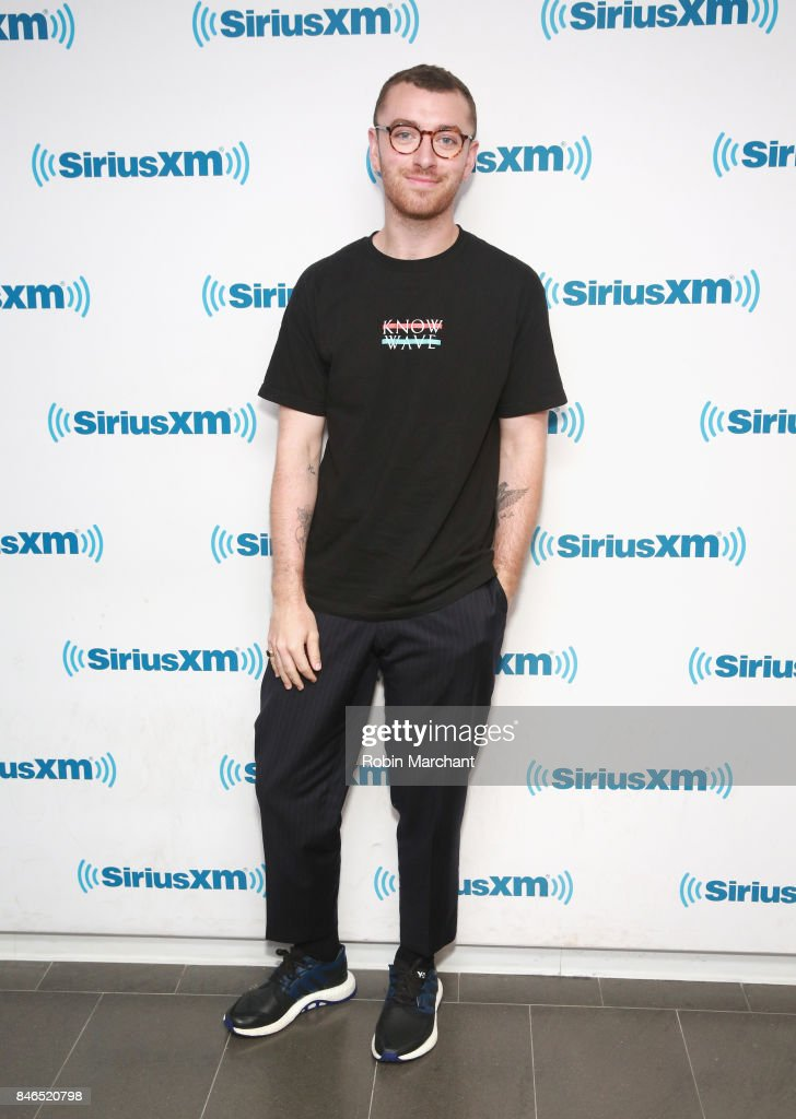 Sam Smith visits at SiriusXM Studios on September 13, 2017 in New York City.
