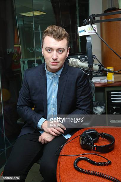 Sam Smith visits 'The Morning Jolt with Larry Flick' on SiriusXM OutQ at SiriusXM Studios on September 18, 2014 in New York City.