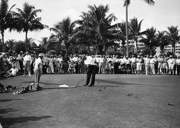 Sam Snead at the Palm Beach Golf Club, Palm Beach, Florida