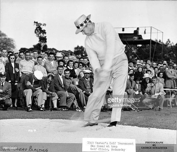 Sam Snead Demonstrates At The Golf Clinic Of The 1949 Masters Tournament