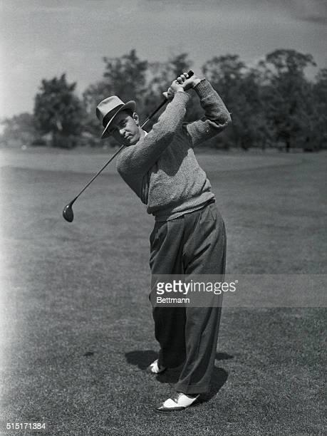 Sam Snead Golfing in Metropolitan Open