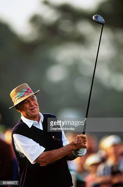 Sam Snead of USA during the first round of the Masters held at The Augusta National Golf Club on April 8 1999 in Augusta GA