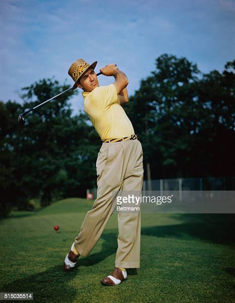 Sam Snead Swinging Golf Club