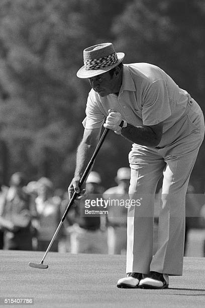 Sam Snead's birdie attempt in the second round of the Masters affords an excellent study of his unique putting style. Snead, who played 7-over-par...