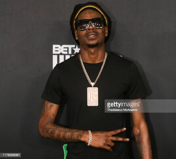 DJ Sam Sneak arrives to the 2019 BET Hip Hop Awards on October 05 2019 in Atlanta Georgia