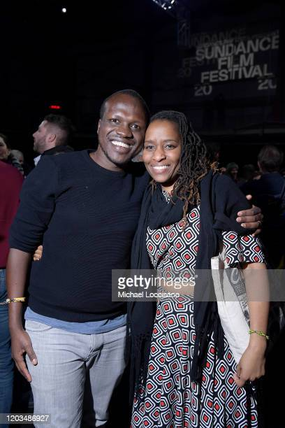 Sam Soko and guest attend the 2020 Sundance Film Festival Awards Night Party at Basin Recreation Field House on February 01 2020 in Park City Utah