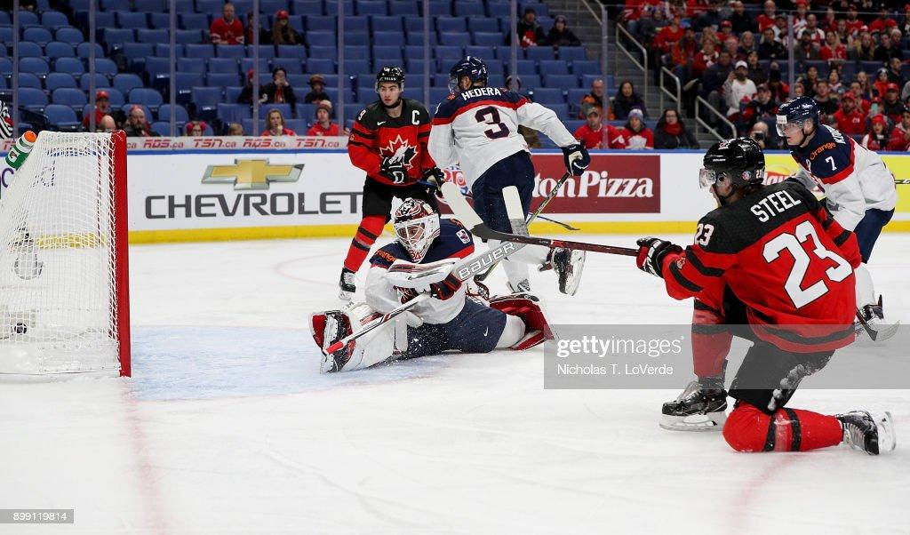 Slovakia v Canada - 2018 IIHF World Junior Championship : News Photo