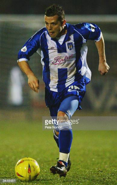 Sam Stockley of Colchester United runs with the ball during the LDV Vans Trophy Area SemiFinal match between Northampton Town and Colchester United...