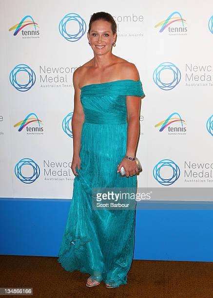 Sam Stosur arrives at the 2011 Newcombe Medal at Crown Palladium on December 5 2011 in Melbourne Australia