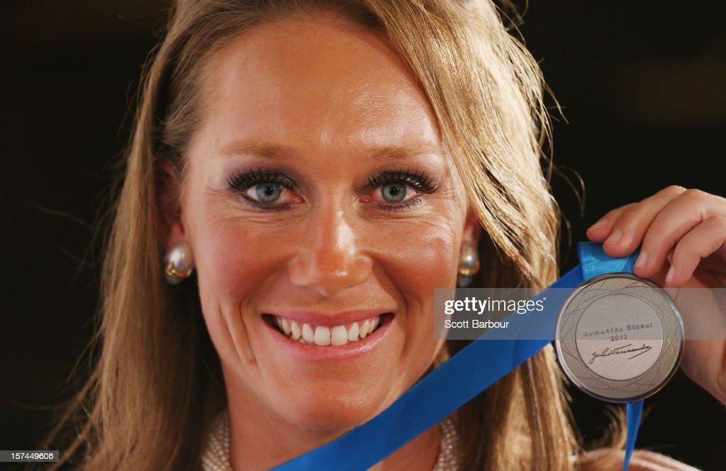 Sam Stosur of Australia poses after winning the Newcombe Medal during the 2012 John Newcombe Medal at Crown Palladium on December 3, 2012 in Melbourne, Australia.