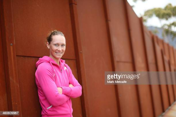 Sam Stosur of Australia poses for a portrait at MONA during day one of the Moorilla Hobart International at Domain Tennis Centre on January 5 2014 in...