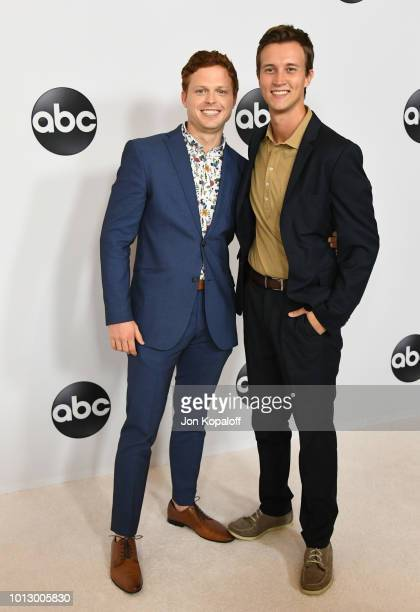 Sam Straley and Caleb Foote attend the Disney ABC Television TCA Summer Press Tour at The Beverly Hilton Hotel on August 7 2018 in Beverly Hills...