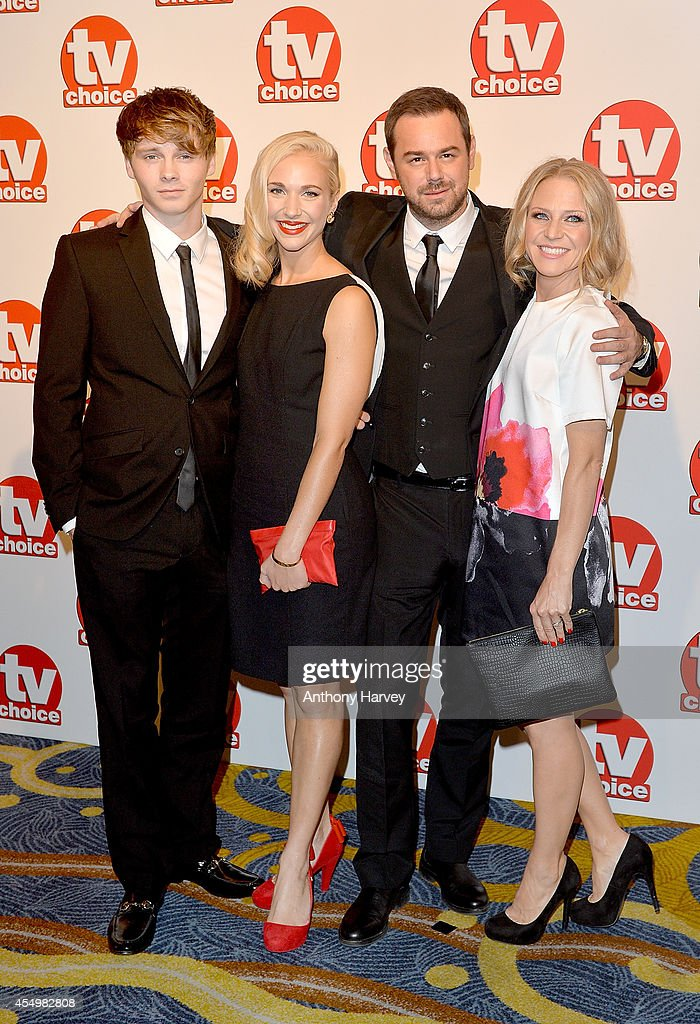 Sam Strike, Maddy Hill, Danny Dyer and Kellie Bright attend the TV Choice Awards 2014 at London Hilton on September 8, 2014 in London, England.