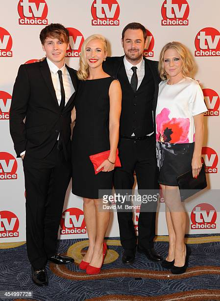 Sam Strike Maddy Hill Danny Dyer and Kellie Bright attend the TV Choice Awards 2014 at the London Hilton on September 8 2014 in London England