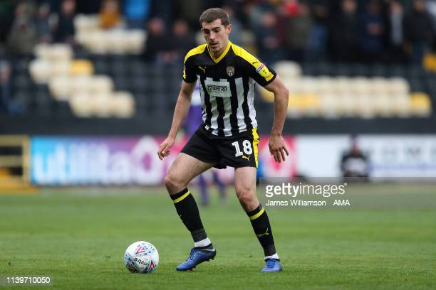 Sam Stubbs of Notts County during the Sky Bet League Two match between Notts County and Grimsby Town at Meadow Lane on April 27 2019 in Nottingham...
