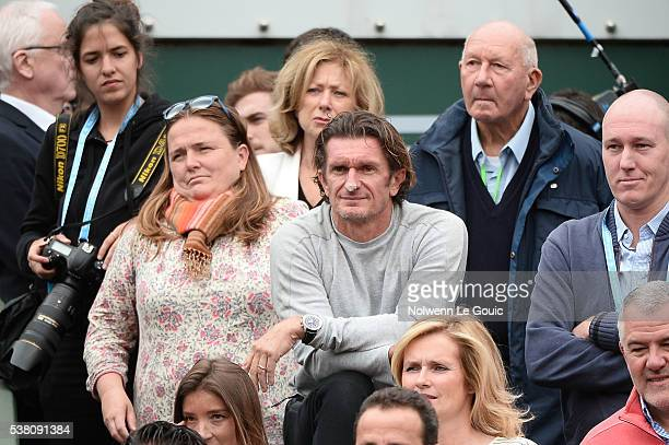 Sam Sumyk coach of Garbine Muguruza during the day fourteen of the French Open 2016 at Roland Garros on June 4 2016 in Paris France