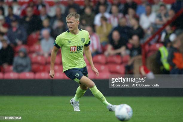 Sam Surridge of Bournemouth during the Pre-Season Friendly match between Brentford and AFC Bournemouth at Griffin Park on July 27, 2019 in Brentford,...