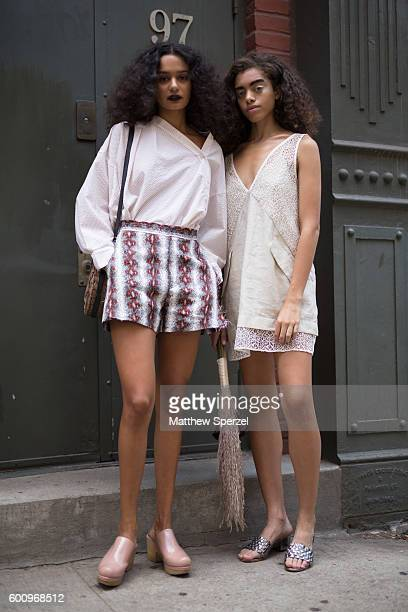 Sam Swan Kiara Barnes are seen attending Rachel Comey during New York Fashion Week S/S 2017 on September 7 2016 in New York City