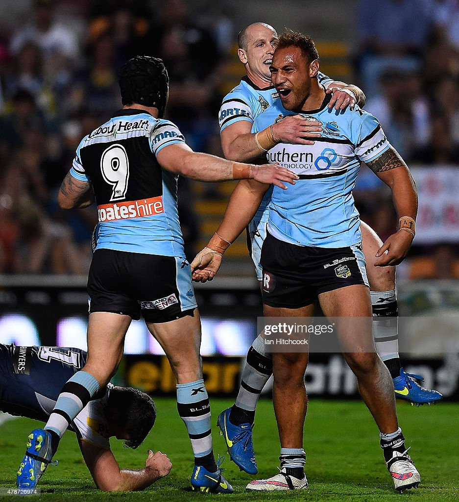 NRL Rd 16 - Cowboys v Sharks : News Photo