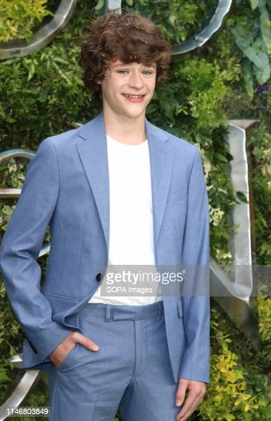Sam Taylor Buck at the Global TV Premiere of Amazon Original Good Omens at Odeon Luxe Leicester Square