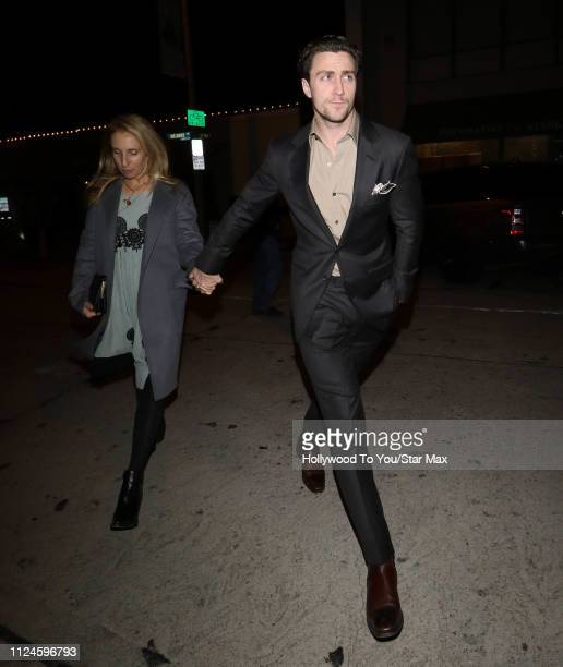 Sam TaylorJohnson and Aaron TaylorJohnson are seen on February 12 2019 in Los Angeles CA
