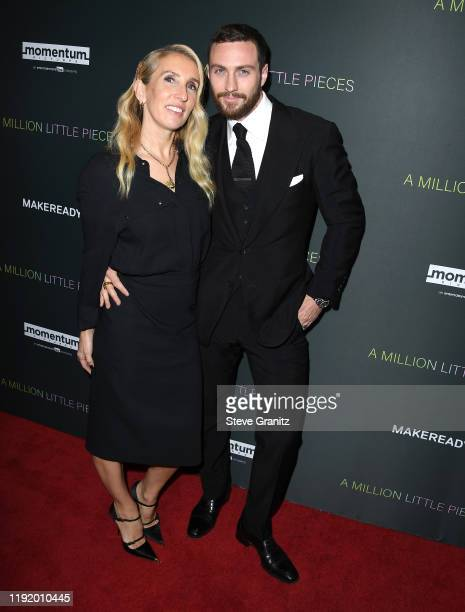 """Sam Taylor-Johnson and Aaron Taylor-Johnson arrives at the """"A Million Little Pieces"""" at The London Hotel on December 04, 2019 in West Hollywood,..."""