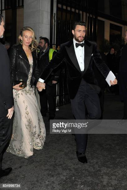 Sam TaylorJohnson and Aaron TaylorJohnson arriving at EE BAFTA British Academy Film Awards Dinner and After Party held at Grosvenor House on February...