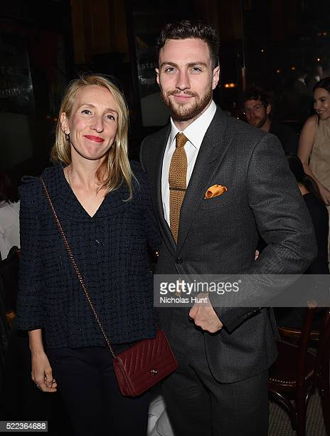 Sam TaylorJohnson and Aaron TaylorJohnson attend CHANEL Tribeca Film Festival Artists Dinner Inside on April 18 2016 in New York City
