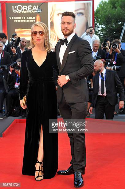 """Sam Taylor-Johnson and Aaron Taylor-Johnson attend """"Nocturnal Animals' Premiere during the 73rd Venice Film Festival at on September 2, 2016 in..."""