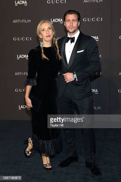 Sam TaylorJohnson and Aaron TaylorJohnson attend the 2018 LACMA ArtFilm Gala at LACMA on November 3 2018 in Los Angeles California