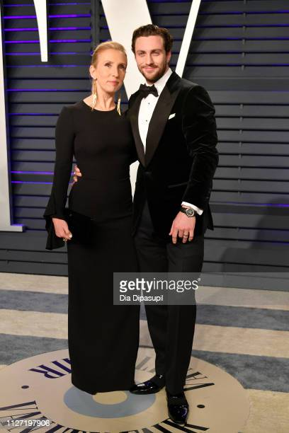 Sam TaylorJohnson and Aaron TaylorJohnson attend the 2019 Vanity Fair Oscar Party hosted by Radhika Jones at Wallis Annenberg Center for the...