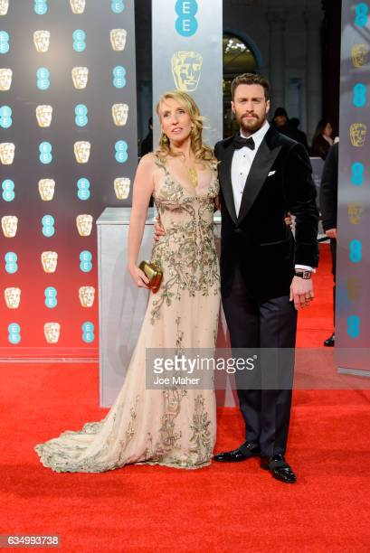 Sam TaylorJohnson and Aaron TaylorJohnson attend the 70th EE British Academy Film Awards at Royal Albert Hall on February 12 2017 in London England
