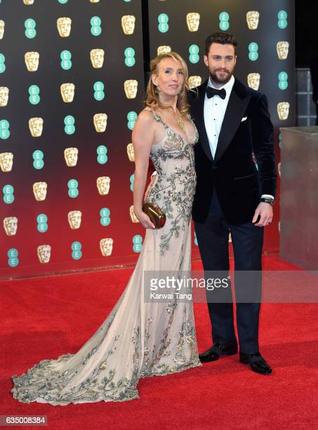 Sam TaylorJohnson and Aaron TaylorJohnson attend the 70th EE British Academy Film Awards at the Royal Albert Hall on February 12 2017 in London...